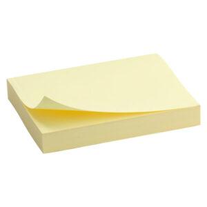 Блок паперу з клейким шаром 50x75мм, 100арк., жовтD3312