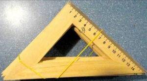 Трикутник деревяний 15см БІРЮЗА AS-0668