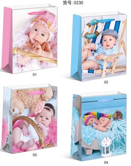 Пакет подарунковий немовлята 5230M 26*32*10