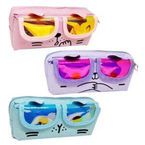 Пенал косметичка 6003  кіт в окулярах