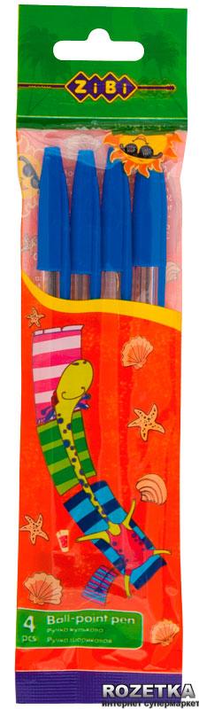 Ручка кулькова ZB.2601-01 r жовто синя (4шт/уп)