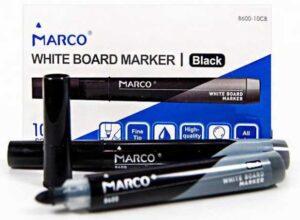 Маркер сухостиральний Marco 8600 чорний (10шт/уп)