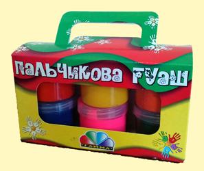 Фарба для малювання пальчиками Гамма 6кол*60мл 322073,100401