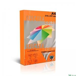 Папір А4 SPECTRA 250арк 160г/м2 IT240 оранжевий інтенсив