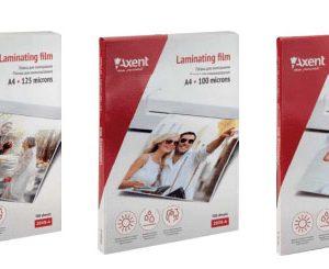 Плівка для ламінування 125 мкм, A4 (216x303мм), 100 шт. Axent 2040